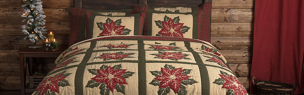 National Quilt Museum Poinsettia Block