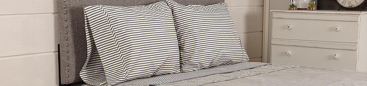 Classic Stripe Denim Sheet Sets