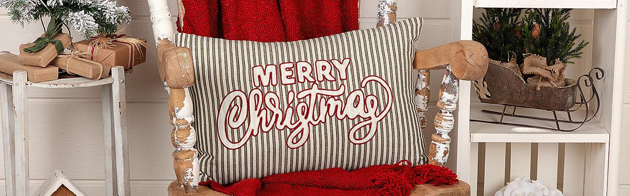 Seasonal Pillows & Throws