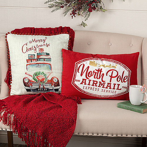 Seasonal Pillows & Throws