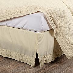 Adelia Creme Queen Bed Skirt 60x80x16