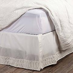 Adelia White King Bed Skirt 78x80x16