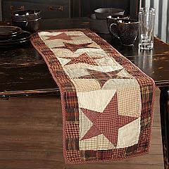 Abilene Star Quilted Runner 13x48