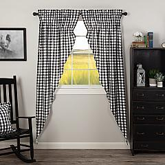 Annie Buffalo Black Check Prairie Long Panel Set of 2 84x36x18