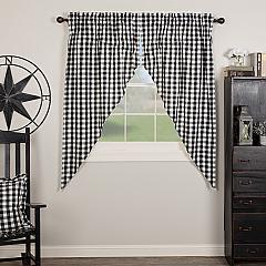 Annie Buffalo Black Check Prairie Short Panel Set of 2 63x36x18