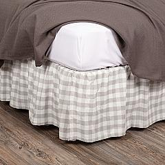 Annie Buffalo Grey Check Queen Bed Skirt 60x80x16