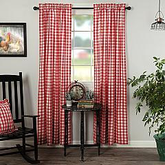 Annie Buffalo Red Check Panel Set of 2 84x40