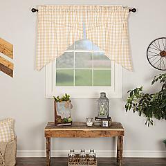 Annie Buffalo Tan Check Prairie Swag Set of 2 36x36x18
