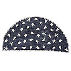 Antique-Navy-Star-Rug-Half-Circle-16.5x33-image-2