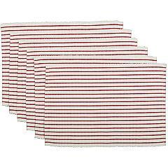 Audrey-Red-Ribbed-Placemat-Set-of-6-12x18-image-2