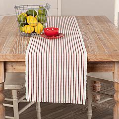 Audrey Red Ribbed Runner 13x72