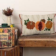 Autumn Pumpkin Patch Pillow 14x22