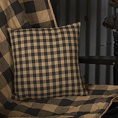 Black Check Fabric Pillow 12x12