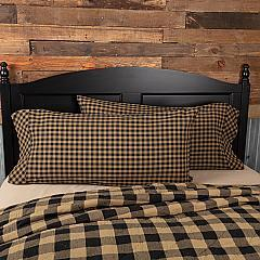 Black Check King Pillow Case Set of 2 21x40