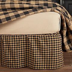 Black Check Queen Bed Skirt 60x80x16