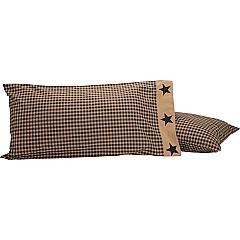 Black-Check-Star-King-Pillow-Case-Set-of-2-21x40-image-2