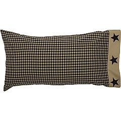 Black-Check-Star-King-Pillow-Case-Set-of-2-21x40-image-3