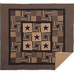 Black-Check-Star-King-Quilt-105Wx95L-image-2