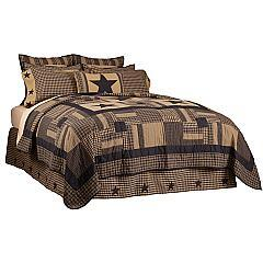 Black-Check-Star-Queen-Quilt-90Wx90L-image-4