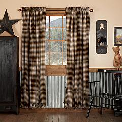 Black Star Scalloped Panel Set of 2 84x40