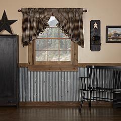 Black Star Scalloped Prairie Swag Set of 2 36x36x18