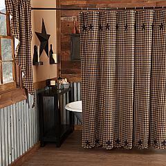 Black Star Shower Curtain 72x72