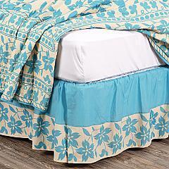 Briar Azure King Bed Skirt 78x80x16