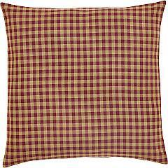 Burgundy Check Fabric Euro Sham 26x26