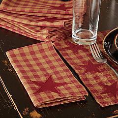 Burgundy Star Napkin Set of 6 18x18
