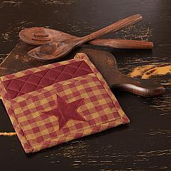 Burgundy Star Pot Holder 8x8