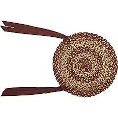 Burgundy-Tan-Jute-Chair-Pad-Set-of-6-image-2