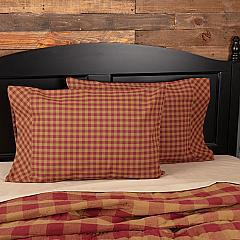 Burgundy Check Standard Pillow Case Set of 2 21x30