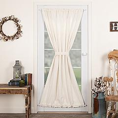 Burlap Antique White Door Panel 72x40