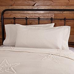Burlap Antique White King Pillow Case Set of 2 21x40