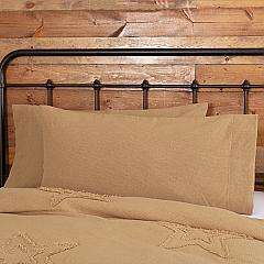 Burlap Natural King Pillow Case Set of 2 21x40