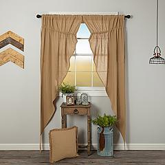 Burlap Natural Prairie Long Panel Set of 2 84x36x18