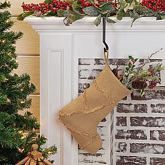 Burlap Natural Reverse Seam Stocking 11x15