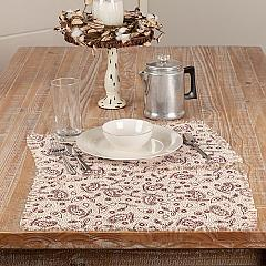 Calistoga Placemat Printed Tobaco Cloth Fringed Set 6-12x18
