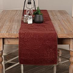Carly Red Quilted Runner 13x90