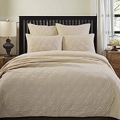 Casey Taupe King Quilt 108Wx92L