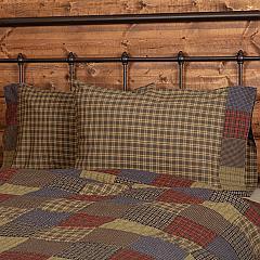 Cedar Ridge Standard Pillow Case with Block Border Set of 2 21x30