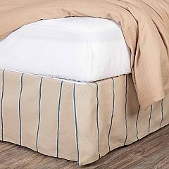 Charlotte Azure Twin Bed Skirt 39x76x16
