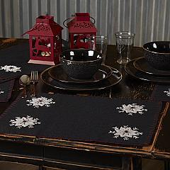 Christmas Snowflake Placemat Felt Embroidery Set 6-12x18