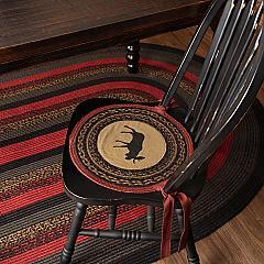 Cumberland Moose Applique Jute Chair Pad Set of 6