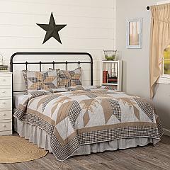 Dakota Star Farmhouse Blue California King Quilt Set; 1-Quilt 130Wx115L w/2 Shams 21x37