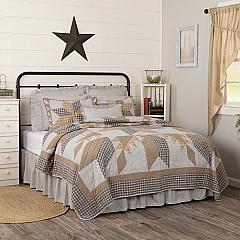 Dakota Star Farmhouse Blue King Quilt 105Wx95L