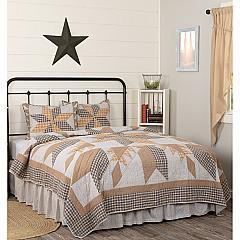 Dakota Star Farmhouse Blue Queen Quilt Set; 1-Quilt 90Wx90L w/2 Shams 21x27