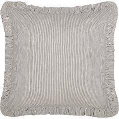 Dakota Star Farmhouse Blue Ticking Stripe Fabric Euro Sham 26x26