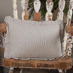 Dakota Star Farmhouse Blue Ticking Stripe Fabric Pillow 14x22