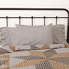 Dakota Star Farmhouse Blue Ticking Stripe King Pillow Case Set of 2 21x40